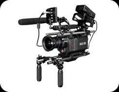 RED One camera in handheld configuration